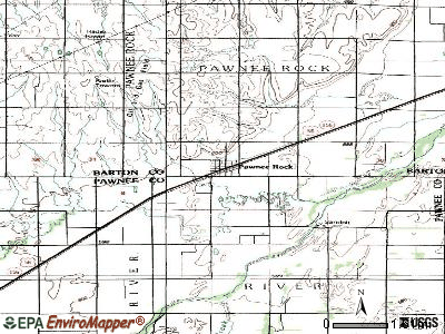 Pawnee Rock topographic map