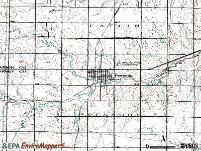 Peabody topographic map