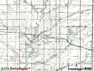Potwin topographic map