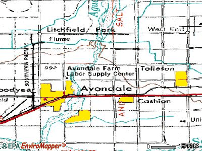 Avondale topographic map