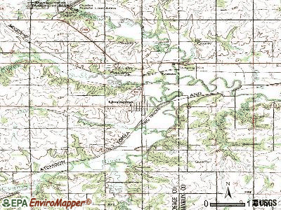 Quenemo topographic map
