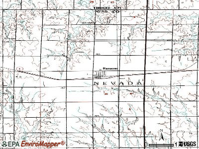 Ransom topographic map