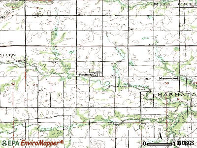 Redfield topographic map