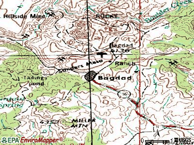 Bagdad topographic map