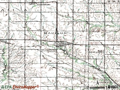 Riley topographic map