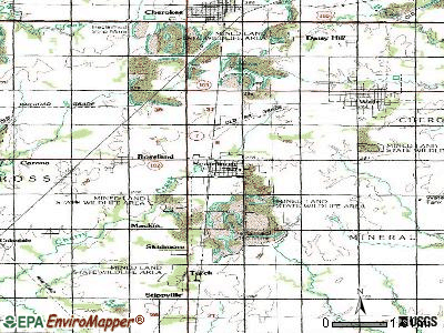 Scammon topographic map