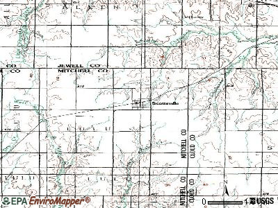 Scandia topographic map