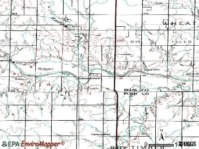 Schoenchen topographic map