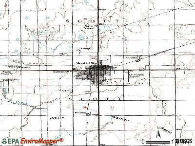 Scott City topographic map