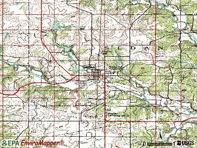 Sedan topographic map