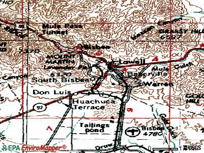 Bisbee topographic map