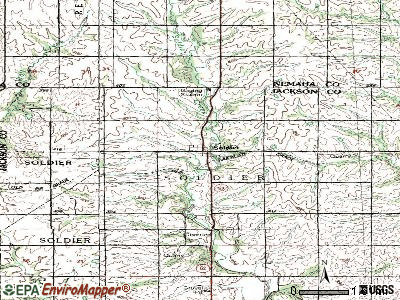 Soldier topographic map