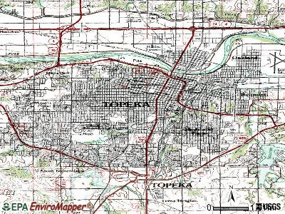 Topeka topographic map