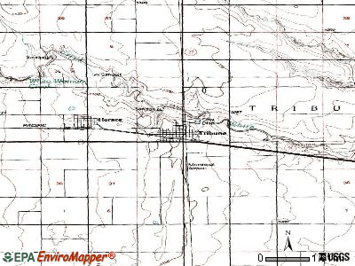 Tribune topographic map