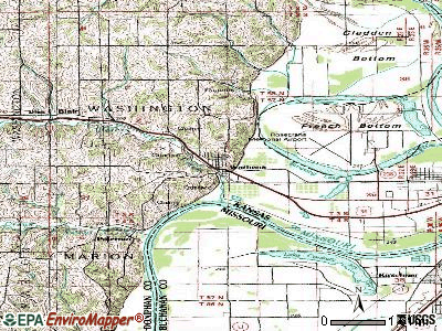 Wathena topographic map