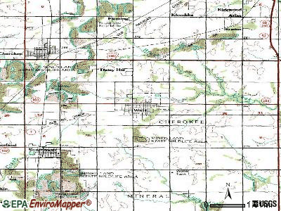 Weir topographic map