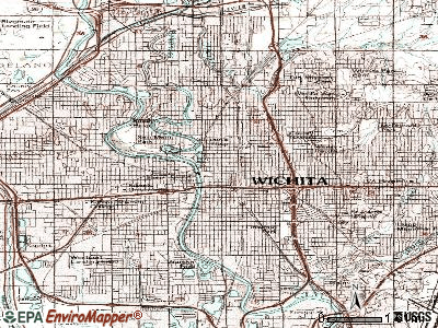 Wichita topographic map
