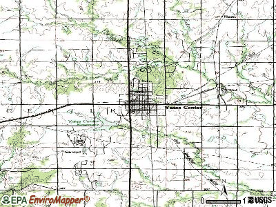 Yates Center topographic map