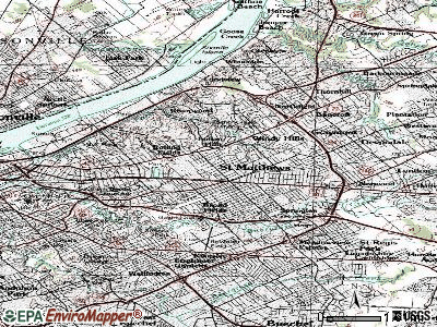 Bellemeade topographic map