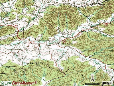 Bradfordsville topographic map
