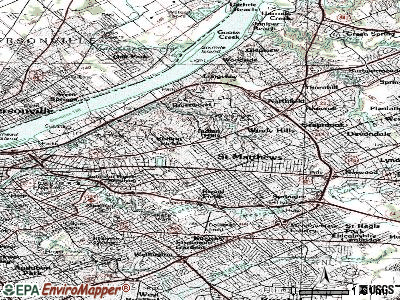 Brownsboro Village topographic map