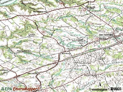 Buckner topographic map