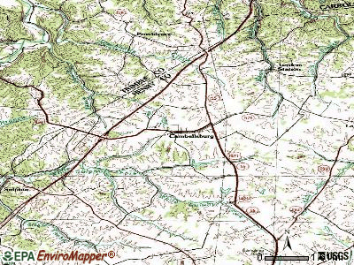 Campbellsburg topographic map