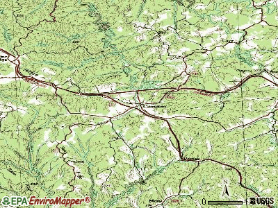 Campton topographic map