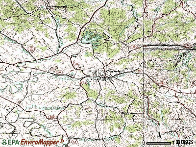 Carlisle topographic map