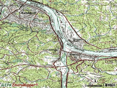 Catlettsburg topographic map