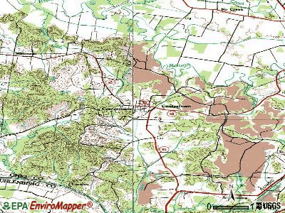 Centertown topographic map