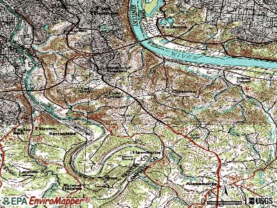 Columbia topographic map