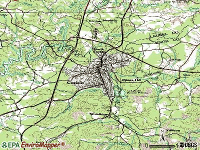 Corbin topographic map