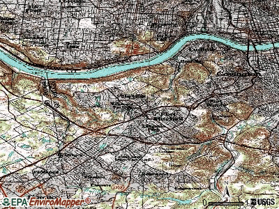 Crescent Springs topographic map