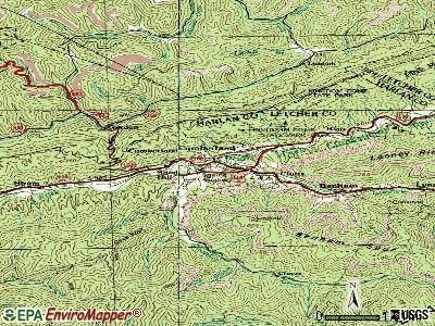 Cumberland City topographic map