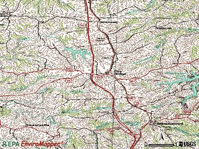 Dry Ridge topographic map