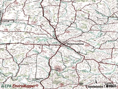 Flemingsburg topographic map