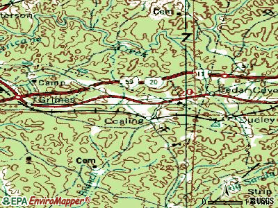 Coaling topographic map
