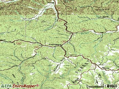 Frenchburg topographic map