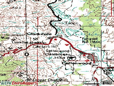 Clarkdale topographic map
