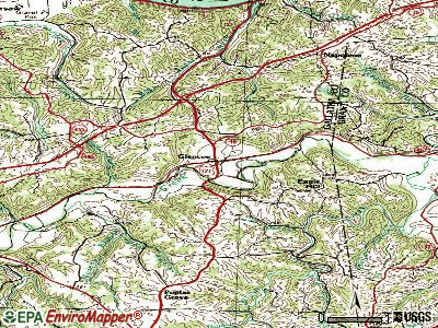 Glencoe topographic map