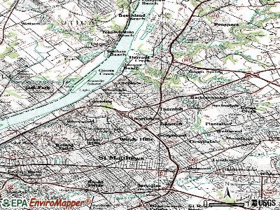 Glenview Hills topographic map