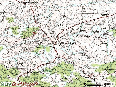 Greensburg topographic map