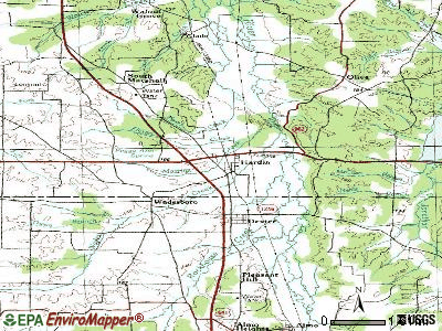 Guthrie topographic map
