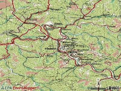 Hazard topographic map