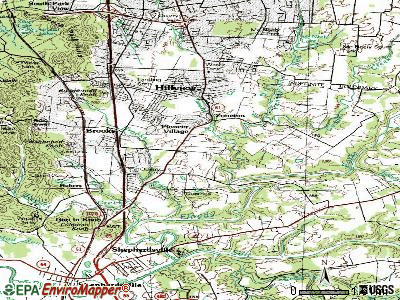 Hebron Estates topographic map