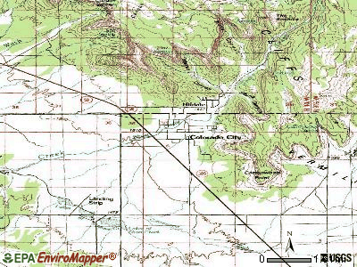 Colorado City topographic map