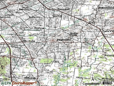 Highview topographic map
