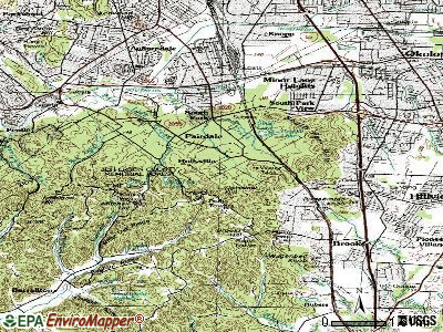 Hollyvilla topographic map