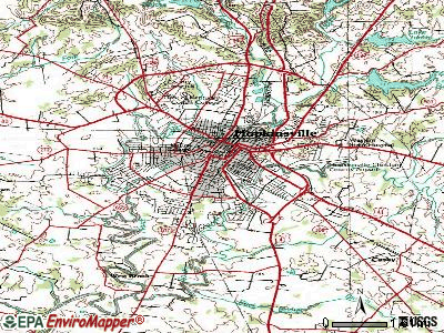 Hopkinsville topographic map